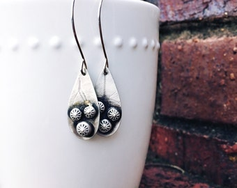 Sterling Silver Teardrops with Recycled Silver