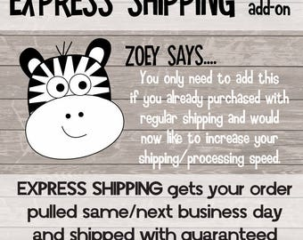 EXPRESS MY ORDER - express processing and shipping