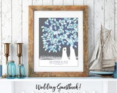 Lesbian Wedding Guest Book, Lesbian Wedding Silhouette, Same Sex Wedding, Mrs and Mrs Wedding // W-T05-1PS HH3