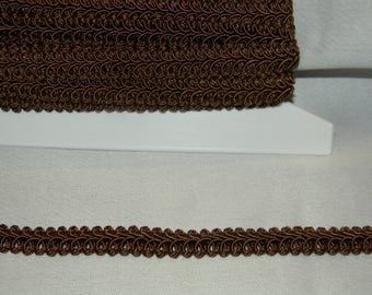 Wide Elegant Gimp in a Gorgeous Chocolate Brown Color