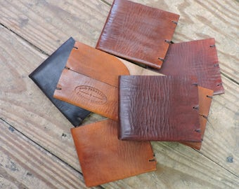 Leather Wallet / Leather Card Sleeve / Hand Crafted / Handmade Leather Wallet / Minimalist Card Holder