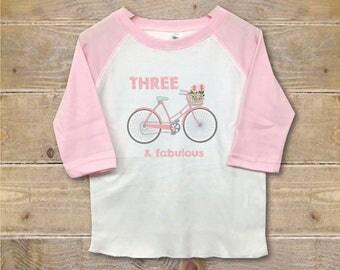 Third Birthday Shirt, Three Shirt, Third Birthday Outfit, 3rd Birthday Shirt, Girl's Clothes, Girl's Shirt, Trendy Shirt, Birthday Gift
