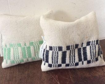 Pine balsam hand woven sachets potpourri blue green