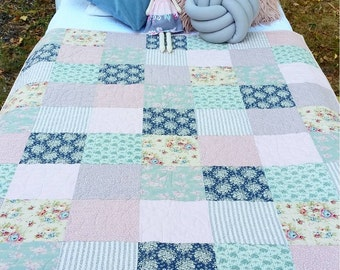 ON SALE cot quilt Tilda 'softly'