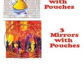 3 Mah Fortune Cookie Mirrors, 3 Klezmer Pom Magnets