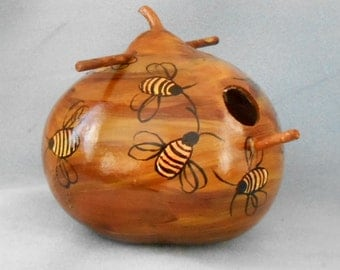 Bee Hive Gourd Bird House