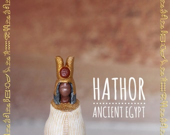 Hathor - Ancient Egyptian Goddess Figurine Travel Souvenir Dollhouse Miniature Sandplay Egypt Mythology Goddess Statue Gift Dollhouse