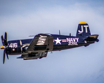 F4U-4 Navy Corsair in Flight Fine Art Print