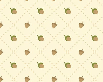 Acorn Nursery Decor Fabric - Acorns By Macywong - Gender Neutral Woodland Acorns Cotton Fabric By The Yard With Spoonflower