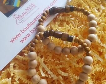 Mala bracelet, Yoga bracelet, Wood beaded bracelet, African beaded bracelet, Boho bracelet, Wood bead stretch bracelet, Mala beads bracelet,