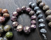 Polymer clay art bead sets in in muted glow. You choose set.