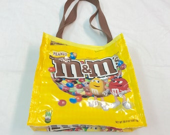 Unique Lunch or Snack Bag made with Recycled Chocolate Candy Bags upcycled repurposed