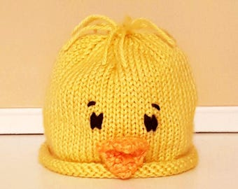 Baby Chick Easter Hat Hand Knit