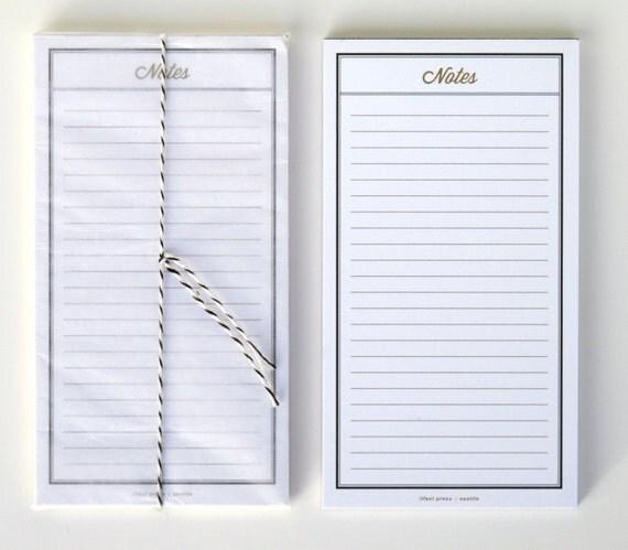black notepad, 3.5 x 5.5