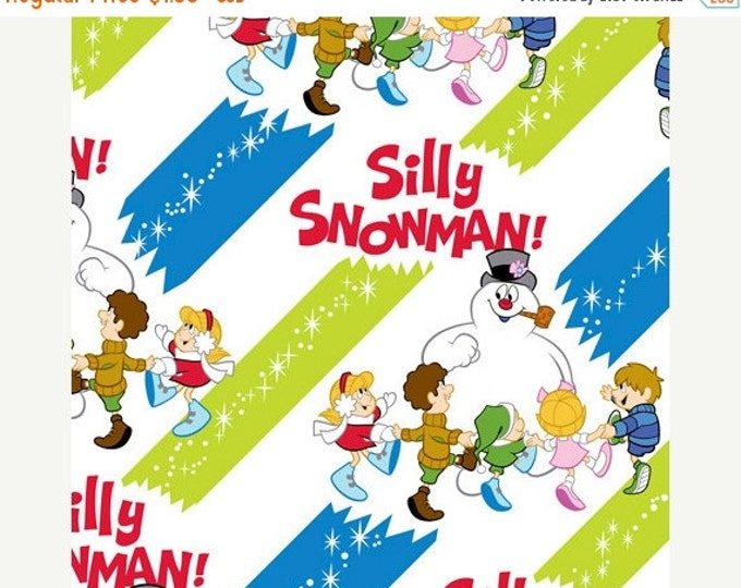 Christmas Fabric, Frosty The Snowman Frosty The Silly Snowman Holiday Fabric Diagonal Stripes