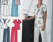 2007 Simplicity easy to sew 3705 misses' scrub top and pants sizes 16-24