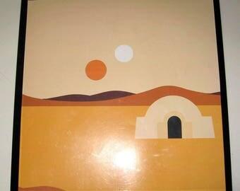 Desert Adobe ..Magnet Dry Erase Memo Board /Housewarming Gift / Office Decor / Desk / Organization / Wall Hanging / Message Board / sunset