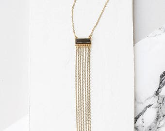 Glam Necklace, Lariat Necklace, Crystal Necklace, Sprkly Necklace, Long NEcklace, Gold Necklace, Silver Necklace, Chain Necklace