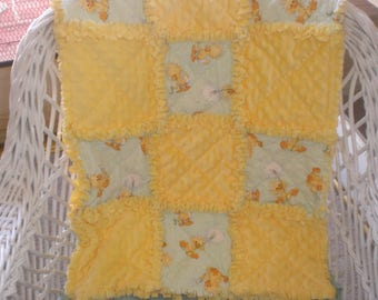 Little Suzy Zoo's Witsy the Duck baby rag quilt