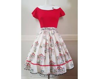 Retro Summer Carousel Skirt