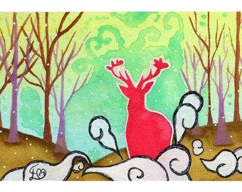 Harry Potter Inspired Patronus Deer Print