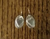 Reserved for Bob sterling Heart Earrings