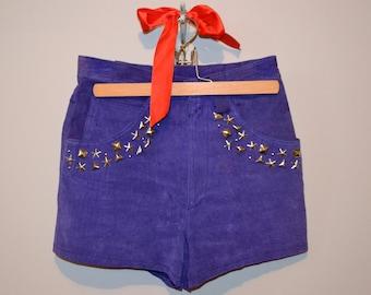 Vintage Purple Rain Hot Pants Rock Star