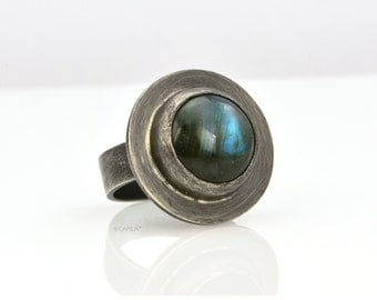 Labradorite Moonlight Ring