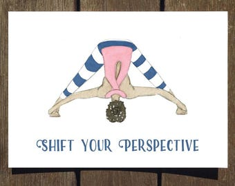 Shift Your Perspective - Yoga Pose Greeting Card