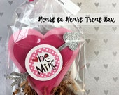 KIT Valentine Heart-to-Heart Treat Box / 3 Messages / Valentine Candy Box / Teacher Appreciation /Valentine Gift / Cupids Glitter Arrows