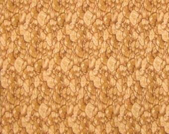 Garden Tonal Riverbed Rocks Brown - Timeless Treasures Cotton Fabric YARDS