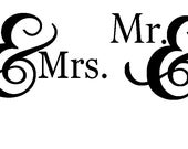 Custom Mr / Mrs Wooden Handle Stamps