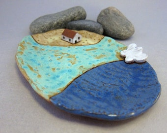 Cloud Farm...Rustic Little Dish in Terracotta