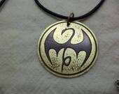 Marvel's Iron Fist Large Etched Brass Pendant