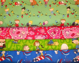 PEANUTS #1  Fabrics, Sold INDIVIDUALLY not as a group, by the Half Yard