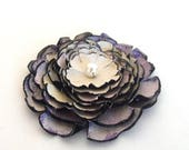 40% OFF SALE Jewelry supplies. Handmade LARGE leather Peony flower for crafts and jewelry making