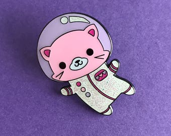 Space Kitty Glitter Enamel Pin