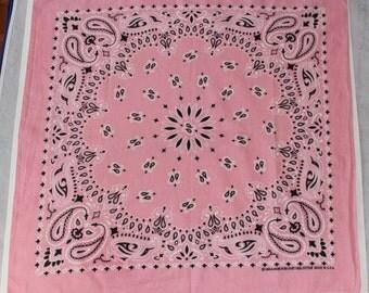 Vintage Pink Bandana, Hav a Hank, 1960's, Cotton