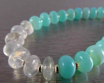20 Off Peruvian Blue Opal And Moonstone Bracelet With Magnetic Clasp