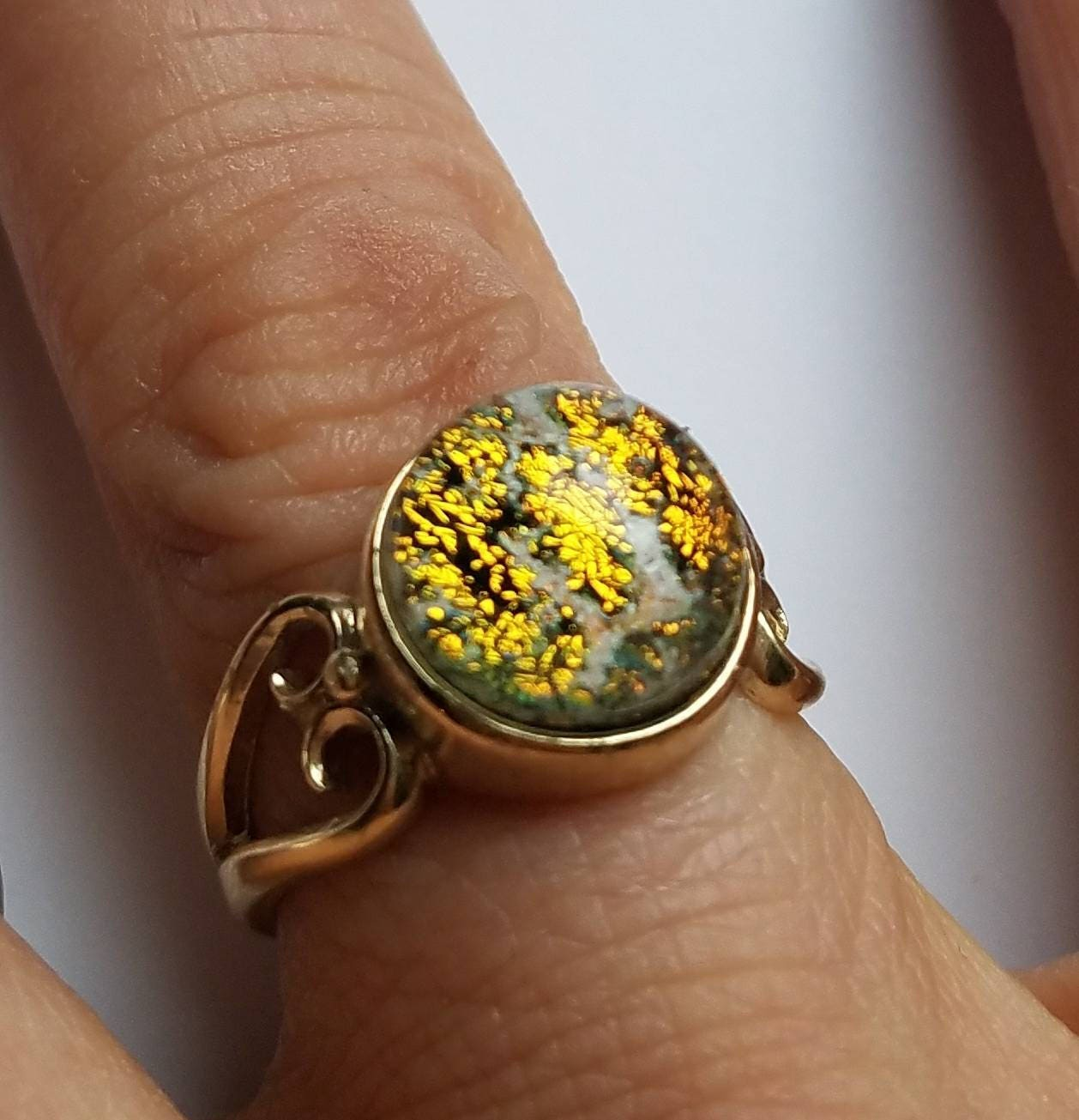 New Heart Ring 14k Yellow Gold Size 7 Cremation Jewelry Ashes
