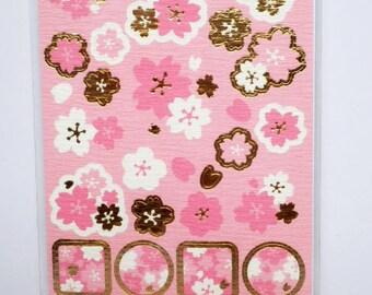 Japanese Washi Stickers - / Sakura Cherry Blossoms