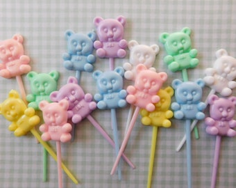 Baby Shower Teddy Bear Cupcake Toppers - Set of 30