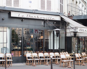 Paris Photography, Parisian Cafe in the Marais, Spring in Paris, Cafe Photo, Art Prints, Photography, Francophile Art, French Kitchen Art