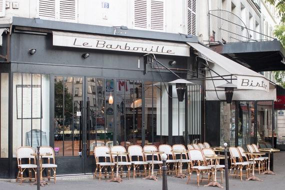 Paris Photography, Parisian Cafe in the Marais, Spring in Paris, Cafe Photo, Art Prints, Photography, Francophile Art, French Kitchen Art