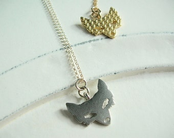 Fox Two-sided Charm Pendant Necklace, Equestrian, Fox Hunting, Horse, Trend