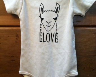 Baby One Piece-Organic Cotton-Llama-Natural-Baby Clothing-Animal
