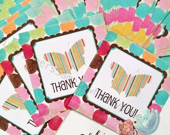 Thank You Stickers, Butterfly Stickers, Etsy Shop Stickers