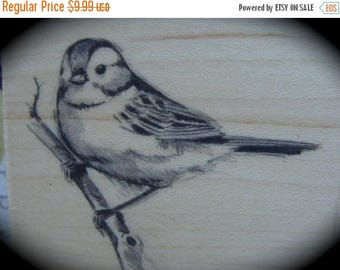 ON SALE Gorgeous Bird Wood Mounted Rubber Stamp