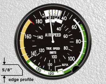 Aviation Airspeed Indicator Large Wall Plaque