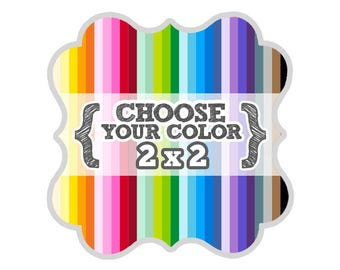 2 x 2 inches - Choose Your Color - Die Cut Tags - Party Favors, Escort Cards, Scrapbooking, Bracket Labels, Gift, Price Tags, Hang Tags